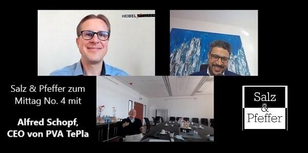 Salz & Pfeffer zum Mittag: Video mit Alfred Schopf, CEO von PVA TePla und Ankündigung für Bitcoin Mittagsplauderei